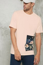 Forever 21 Floral Graphic Tee Peach