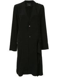 Y's Lightweight Ruffle Detail Coat Black