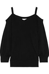 Milly Woman Cold Shoulder Knitted Top Black