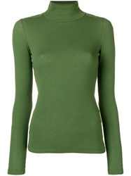 Each X Other Fitted Turtle Neck Sweater Green
