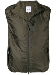 Aspesi Military Fitted Vest Green