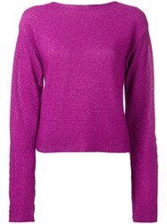 Thierry Mugler Cropped Jumper Pink Purple