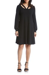 Karen Kane Lane Cutout Neck Sweater Dress Black