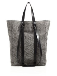 Cnc Costume National Textured Leather Tote Grey