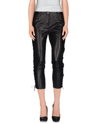 American Retro Trousers 3 4 Length Trousers Women Black
