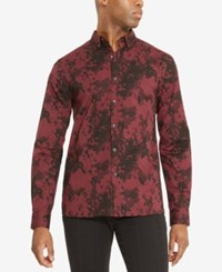 Kenneth Cole Reaction Men's Stretch Camo Shirt Port Royale Combo