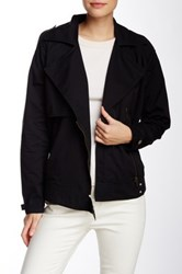 Michael Stars Moto Trench Jacket Black