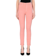 Alexander Mcqueen Skinny High Rise Jeans Pink