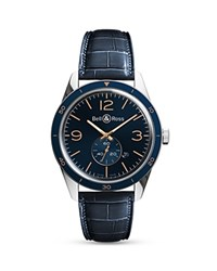 Bell And Ross Aeronvale Alligator Strap Watch 43Mm Blue