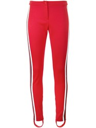Gucci High Waisted Stirrup Trousers Women Cotton Polyester L Red