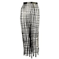 Sasha Louise Latex Net Pencil Skirt Black