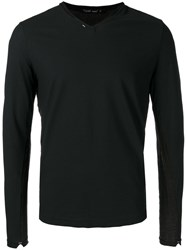 Transit V Neck Jumper Black