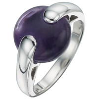 A B Davis Sterling Silver Gemstone Pebble Ring Purple