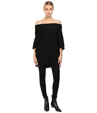 Limi Feu Off Shoulder Dolman Tee Black Women's Clothing