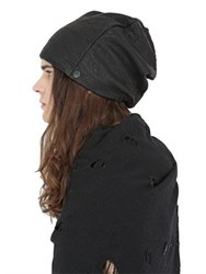 Cutuli Cult Textured Leather Beanie Hat