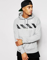 Nike Track And Field Pull Over Hoodie Greywhite