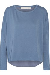 Kain Label Frankie Cotton And Modal Blend Top Blue