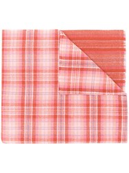 Acne Studios Cassiar Check Oversized Scarf Pink