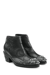 Mcq By Alexander Mcqueen Studded Leather Ankle Boots