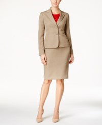 Le Suit Two Button Skirt With Shell Mink Vermillion