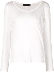 The Row Scoop Neck T Shirt White