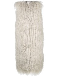Giorgio Brato Sleeveless Oversized Fur Gilet White