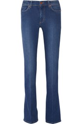 Mih Jeans London Mid Rise Straight Leg Jeans Blue