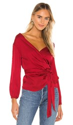 Velvet By Graham And Spencer Everlee Top In Red. Cherry