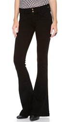 Gold Sign Sissi Platform Flare Jeans Focus