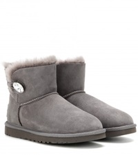 Ugg Mini Bailey Button Embellished Boots Grey