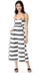 Mara Hoffman Easy Jumpsuit Black White