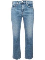 Rag And Bone Jean Straight Cropped Jeans Blue