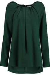 Vionnet Wool And Angora Blend Top Green