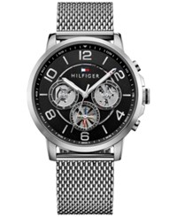 Tommy Hilfiger Men's Sophisticated Sport Stainless Steel Mesh Bracelet Watch 44Mm 1791292 Silver
