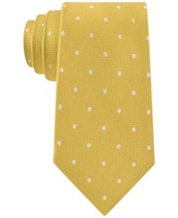 Club Room Men's Texture Dot Tie Only At Macy's Yellow