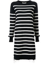 Muveil Striped Knitted Dress Black