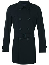 Herno Classic Trench Coat Men Polyimide 50 Blue