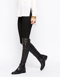 Oasis Premium Over The Knee Flat Boots Black