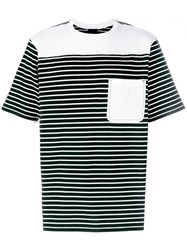 3.1 Phillip Lim Re Constructed Striped T Shirt Black