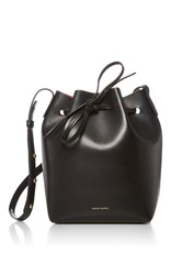 Mansur Gavriel Black Leather Bucket Bag