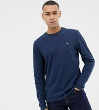 Jack Wills Long Sleeve Logo T Shirt In Navy Exclusive At Asos
