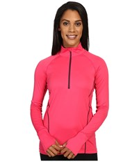 Marmot Interval Half Zip Long Sleeve Pink Rock Dark Purple Women's Long Sleeve Pullover