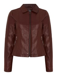 Therapy Annika Pu Jacket Burgundy
