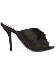 N 21 No21 Twisted Knot Stiletto Mules Black