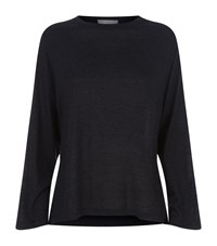 Vince Crew Neck Full Sleeve T Shirt Female Black