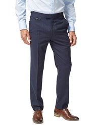Chester Barrie By Travel Wool Tailored Suit Trousers Navy