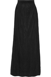 M Missoni Crochet Knit Maxi Skirt Black