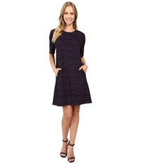 Donna Morgan A Line Shift Dress With Faux Leather Black Syrup Women's Dress