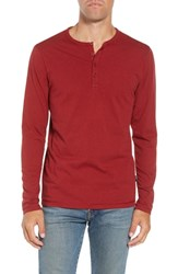 Patagonia 'Daily' Long Sleeve Organic Cotton Henley Oxide Red