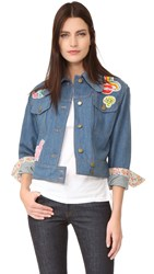 Olympia Le Tan Jack Flash Jacket Blue